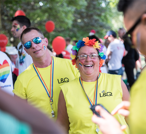 L and Q colleagues at London Pride