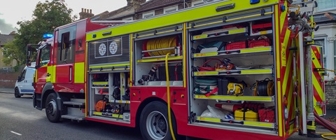 London Fire Brigade truck