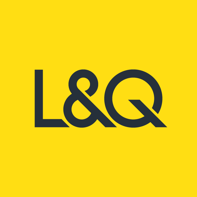 L and q yellow logo