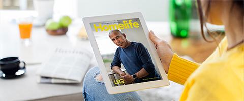 Homelife magazine viewed on ipad