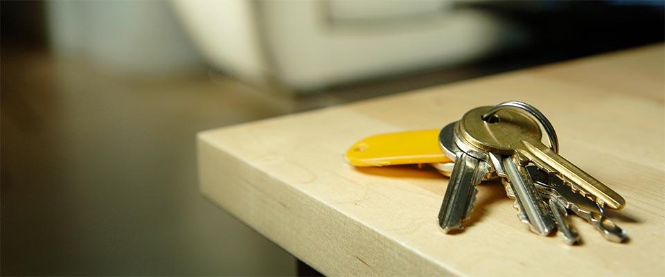 Keys on coffee table